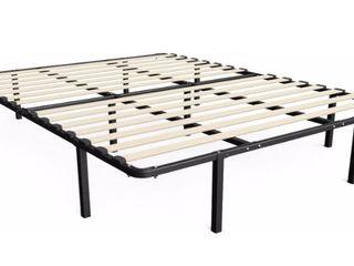 Sleep Master My Euro Smart Base Wooden Slats Mattress Foundation  Full
