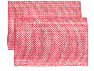 Pink Cotton Two tone Placemats  Set Of 2