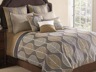 Brenda 10 Pc King Comforter Set Bedding