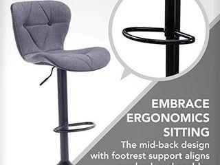 Halter Adjustable Height Stool Chairs  Counter Height Swivel Bar Stools   1 Barstool