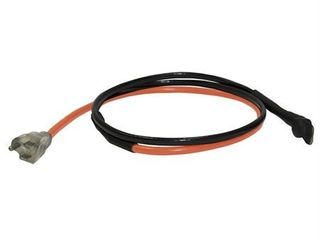 King 120V 6  Pipe Freeze Protection Trace Cable with Stat and Plug  Black