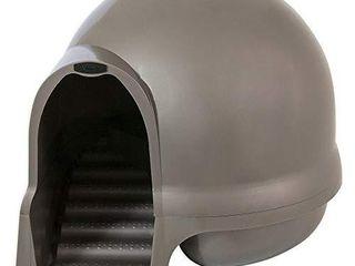 Petmate Booda Dome Clean Step Cat litter Box  Brushed Nickel