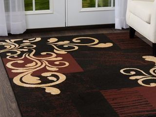 Home Dynamix Premium Collection HD1879 502 Area Rug  7 8  by 10 7  Ebony