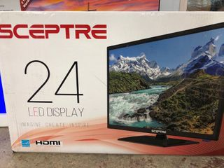 Sceptre 24  Class 1080P FHD lED TV with Built in DVD Player E246BD F