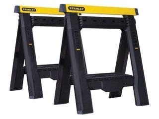 Stanley Adjustable 2 Way Sawhorse 1000 lb  Black