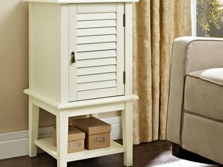 Powell Shutter Door Accent Table  Multiple Colors