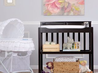 Dream On Me Zoey 3 in 1 Convertible Changing Table with Pad  Black