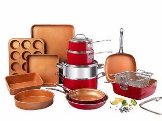 Gotham Steel 20 Piece Non Stick Ti Ceramic Complete Cookware   Bakeware Set