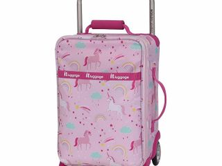 it luggage World s lightest Kids 17  Softside luggage  Unicorn Repeat Print  17 CARRYON