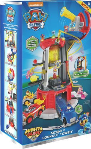 PAW Patrol Super Mighty Pups lookout Tower with Chase Figure