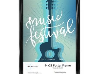 Mainstays 14  x 22  Trendsetter Poster and Picture Frame  Black
