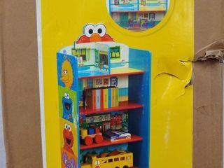 Sesame Street Wooden Playhouse 4 Shelf Bookcase for Kids by Delta Children