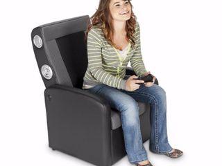 X Rocker 2 1 Flip Gaming Chair with Storage  Black Gray