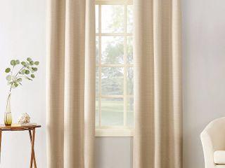 2 Pack   Sun Zero Cooper Textured Thermal lined Room Darkening Energy Efficient Grommet Curtain Panel