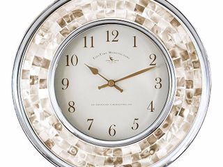 Pearl Mosaic Wall Clock Off White   FirsTime