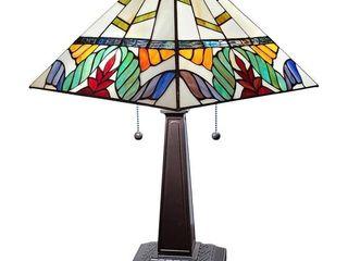 Amora lighting   Tiffany Style Table lamp Mission 22  Tall