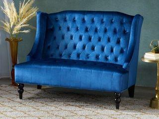 Christopher Knight Home   leora Modern Glam Tufted Velvet Wingback loveseat
