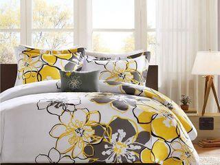Yellow Kelly Comforter Set Full Queen 4pc