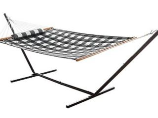 Hatteras Hammocks Medium 2 Person Quilted Hammock Combo With Pillow   Stand