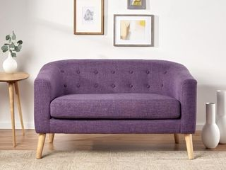 Christopher Knight Home   Bridie Mid Century Fabric loveseat