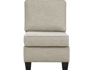 Alessio Contemporary Beige Armless Chair