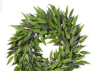 Pure Garden Artificial Ficus Microphylla leaf Wreath