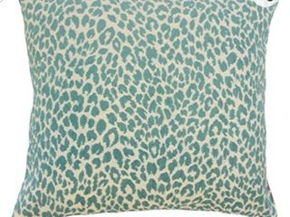 The Pillow Collection Pesach Animal Print Bedding Sham Teal  Euro 26  x 26