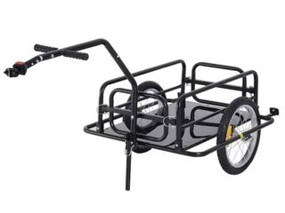 Aosom Folding Bike Cargo Trailer Cart with Seat Post Hitch