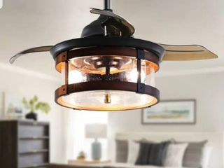 Industrial 36 In Retractable 3 Blade Ceiling fan with light Kit1
