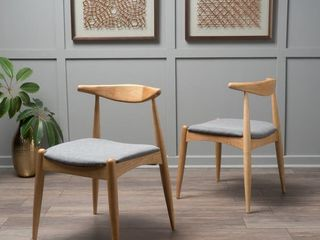 Christopher Knight Home   Francie Mid century Dining Chairs  Set of 2