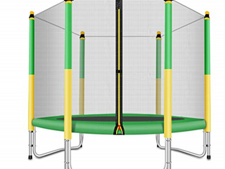 5ft  Trampoline with Safety Enclosure   Yellow Green