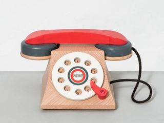 Wooden Toy Rotary Phone   Hearth   Hand with Magnolia