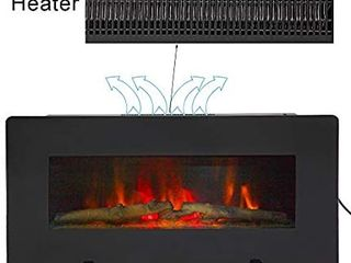Zebery ZOKOP SF311 36G 36 Inch 1400W Wall Hanging Fireplace Single Color Fake Wood Heating Wire Black