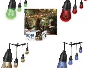48ft lED String light 4 Color Changing Dimmable Waterproof Remote Control   2 Strands