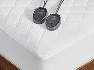 Beautyrest Black Dual Zone Heated Mattress 250 Count Cotton Topper Pad  queen