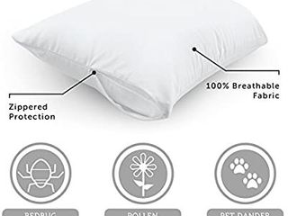 AllerEase Allergen Barrier Pillow Protector  Zippered Pillow Protector  Allergist Recommended  Barrier Protection Against Dust Mites and Other Allergens  One