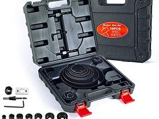 MonkeyKingBar  19 Pcs Hole Saw Kit for Wood  for PVC Board Plastic Plate Drilling Drywall and Soft Wood