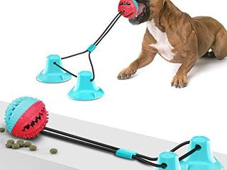 Suction Cup Dog Toy  Dog Chew Toys  Interactive Toy Pet Molar Bite Toy for Helping Teeth Cleaning Training Dragging Chewing  Suitable for Small large Dogs