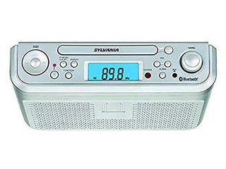 SYlVANIA SKCR2713 Under Counter CD Player with Radio and Bluetooth  Silver