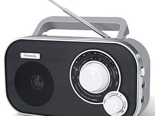 DreamSky Portable AM FM Radio with Great Reception  Battery Operated Radio AC Outlet Powered Radios with Headphone Jack  Handheld Transistor Radios Small Gifts for Seniors Emergency  Indoor Outdoor