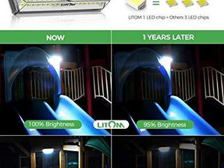 Solar lights Outdoor  lITOM 100 lED Solar Motion Sensor lights Outdoor with 4 Optional Modes  Wide angle Design IP67 Waterproof  Easy to Install Solar Security lights for Front Door Yard Garage 3 Pack