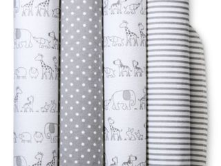 Flannel Baby Blankets Two by Two 4pk   Cloud Island Gray