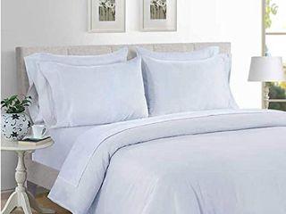 Hotel Signature Sateen 800 Thread Count Supima Cotton Sheet Set  Bright White  King