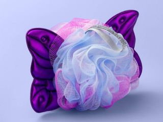 Butterfly Wings Mesh Sponge   More Than Magic Purple  Multi Colored  BOX OF 48