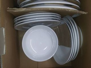 Over And Back Fingerprint Porcelain Dinnerware Set 20 Piece