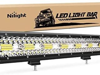 Nilight 18024C A 420W 20Inch Triple Row Flood Spot Combo 42000lM Bar Driving Boat led Off Road lights for Trucks