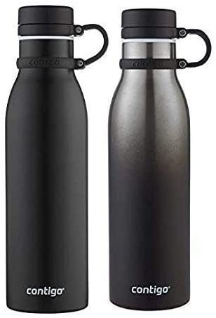 Contigo Thermalock Stainless Steel 20 oz Water Bottle   2 Pack