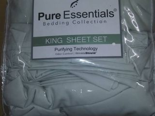 Pure Essentials 100  Cotton 400 Thread Count 6 Piece Sheet Set King