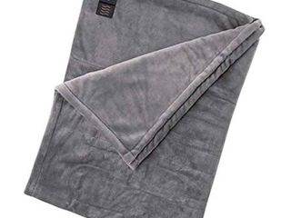 Brookstone luxurious Electric Heated Throw 4 Heat Settings Easy One Touch Built in Remote  Charcoal