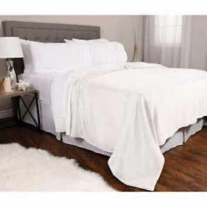 Kirkland Signature White Plush Blanket